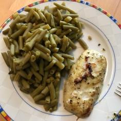 Bohnen und Fisch