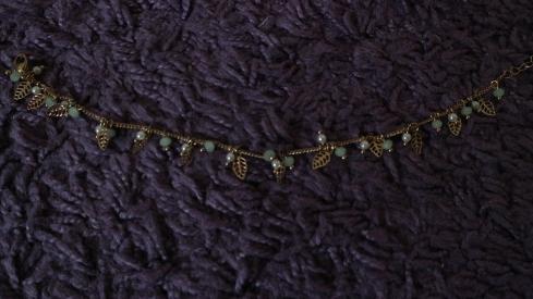 Das ist meine feine kleine Fußkette für den Sommer